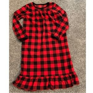 Carter's Flannel Girls Night gown sz 6-7